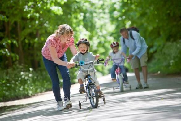 Научить кататься на велосипеде